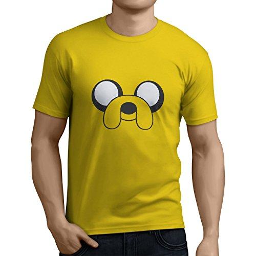 Tuning Camisetas Herren T-Shirt Adventure Time Jake - Witziges Bedrucktes T-Shirt, Gelb, Größe XXL