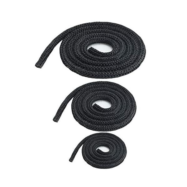 Junta redonda para horno de chimenea, cuerda resistente al calor, puerta de 10 mm, 1 metro, color gris oscuro y…
