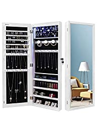 Nicetree LED Lighted Jewelry Armoire Organizer