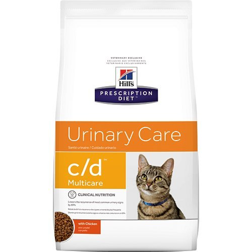 Hill's Prescription Diet c/d Multicare Urinary Care with Chicken Dry Cat Food 4 lb