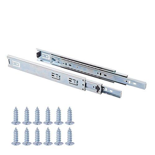 AmazonBasics - Schubladenschienen mit Kugellager, 30,5 cm, Vernickelter Stahl, 2er-Pack