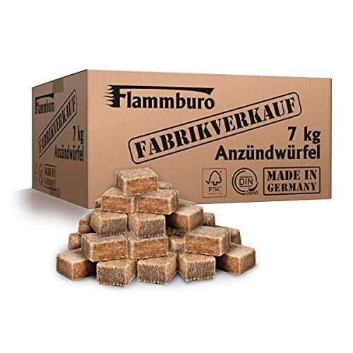 FLAMMBURO (7 kg) Ökologische Anzündwürfel, Grillanzünder, Kaminanzünder, Ofenanzünder Öko-Anzündwürfel, Anzündblocks