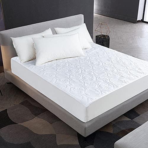 CYYyang Protector de colchón - óptimo antiácarosSábana Impermeable Aislamiento de orina en Relieve-Blanco (Estrella de Concha) _180X200 + 30cm