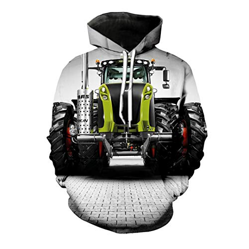 Inverno Uomo Donna Moda Felpa 3D Print Hip Auto Trattore con Cappuccio a Maniche Lunghe Hop Pullover 22 M
