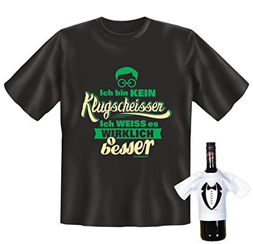 Originelles Fun Shirt Set! Ich Bin kein Klugscheisser ich weiß es wirklich Besser - Mit einem gratis Gentleman Minishirt