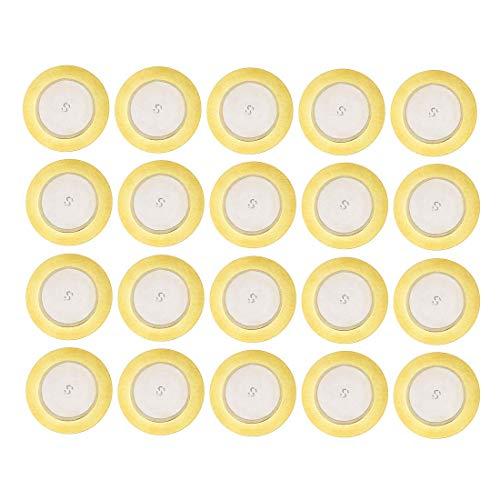 YeVhear 20 discos piezoeléctricos, 27 mm, transductor de toma acústica, micrófono activador CBG para guitarra
