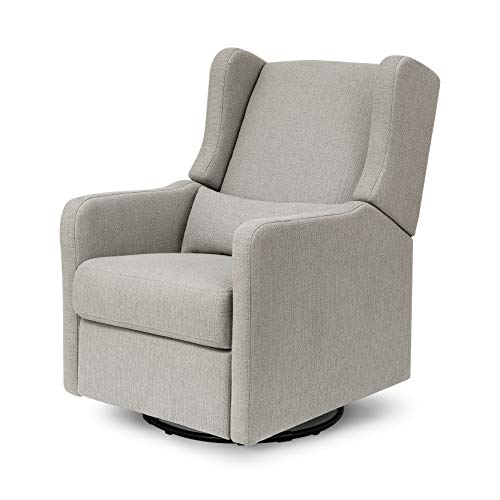 Carter's by DaVinci Arlo Recliner and Swivel Glider in Performance Grey Linen, Water Repellent, Stain Resistant Fabric, Greenguard Gold Certified