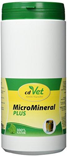 cdVet Naturprodukte MicroMineral plus Hund & Katze 1kg - extra Zink und Selen - Vitamin, Mineralstoff- und Spurenelementgeber - Magensäurebinder - Schadstoffebinder - Magen-Darm Regulation -