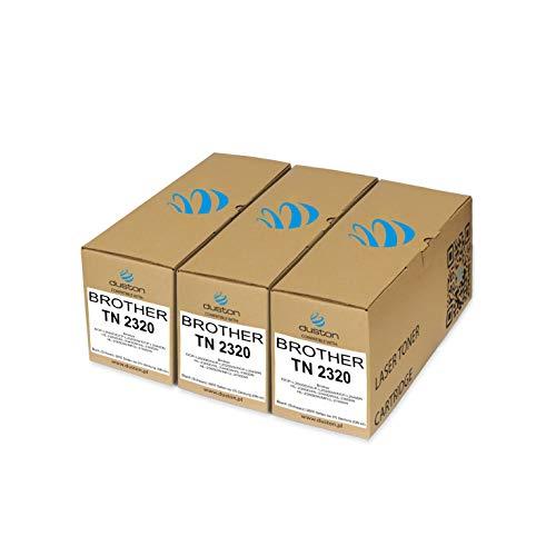 3X TN2320, TN-2320 Gerecyclede zwarte Duston toner, compatibel met Brother TN-2320 DCP-L2500D DCP-L2520DW DCP-L2540DN HL-2300D HL-2340DW HL-2360DN HL-2365DW MFCL-2700DW
