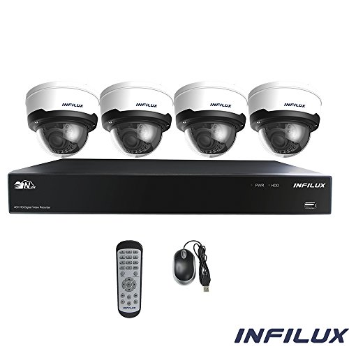 Fantastic Prices! Infilux 4-Channel Indoor and Outdoor 4 Megapixel Hi-Def IP Security Surveillance S...