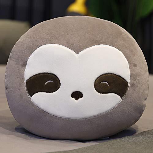 N / A Weiche Cartoon Tiere Plüsch Kissen Süße Hai Schwein Katzen Einhorn Wal Waschbär Plüsch Spielzeug Gefüllte Bett Sofa Kissen Geschenk für Kinder 35cm