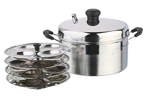 Pristine Stainless Steel Idli Cooker, 21 cm / 4 Plates
