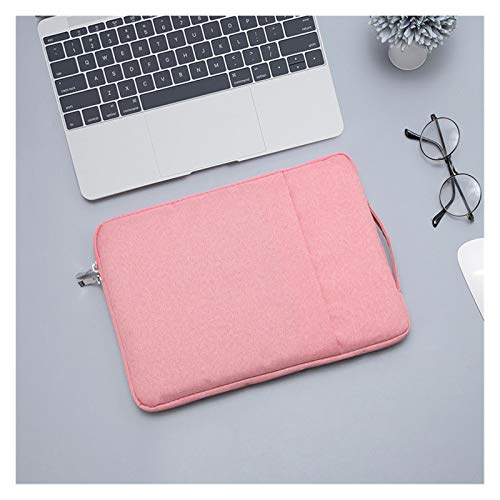 Waterproof Laptop Bag 12 13 14 15 15.6 Inch Universal Notebooks Case Sleeve for Macbook Air Pro Handbag Briefcase Bags Pouch Men (Color : Pink, Size : 15 inch)