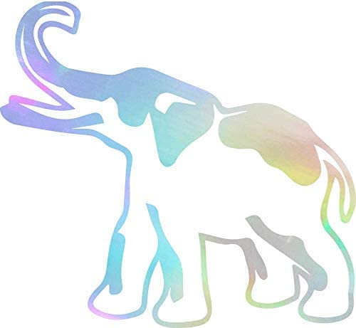 USC DECALS Lucky Elephant Hologram Set of 2 Premium Waterproof Vinyl Decal Stickers for Laptop product image