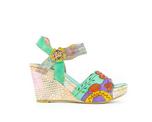LAURA VITA HACIO01Vert Chaussures Femmes Cuir Sandales38