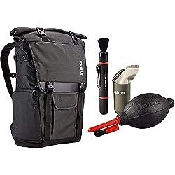 Thule TCDK101K Covert DSLR Backpack Rucksack für Spiegelreflexkameras mit Laptop Fach grau & Hama Kamera Reinigungsset 3-teilig (Objektiv, Sensor & Kameralinse reinigen, mit Lenspen Reinigungsstift)