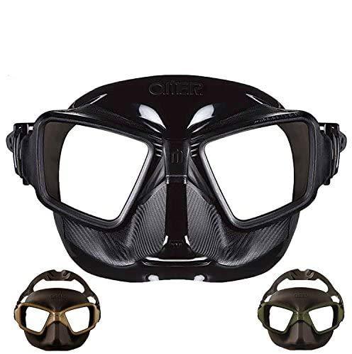 フリーダイビング用マスク OMER/オマー ゼロキューブ Mud
