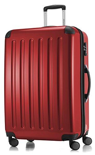 HAUPTSTADTKOFFER - Alex -  4 Doppel-Rollen Großer Hartschalen-Koffer Koffer Trolley Rollkoffer Reisekoffer, TSA, 75 cm, 119 Liter, Rot