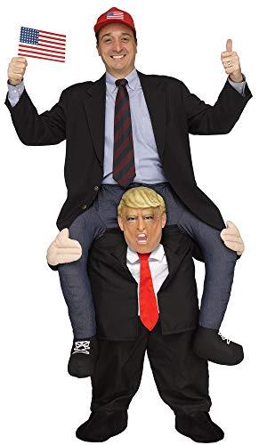 shoperama Lustiges Step-In Huckepack Kostüm Piggy Back Aufsitz Reiter Trag Mich JGA Junggesellenabschied, Variante:Trump