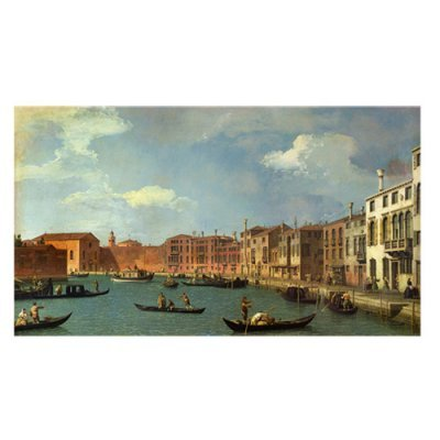 Canal of Santa Ciara Venice by Canaletto, 18 by 32-Inch Canvas Wall Art