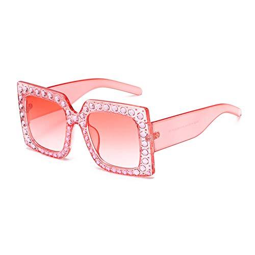 WZYMNTYJ Frauen Markendesigner Luxus Übergroßen Quadratischen Sonnenbrille Damen Sexy Diamant Sonnenbrille Top Qualität Eyewears
