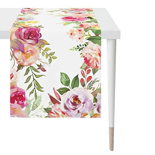 APELT Tischläufer Sommerblumen bunt 45x135 cm