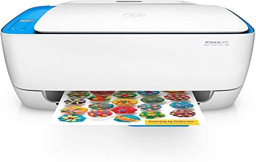 HP Deskjet 3639 - Stampante multifunzione inchiostro istantaneo, stampante, scanner, fotocopiatrice, WLAN, airprint), Bianco