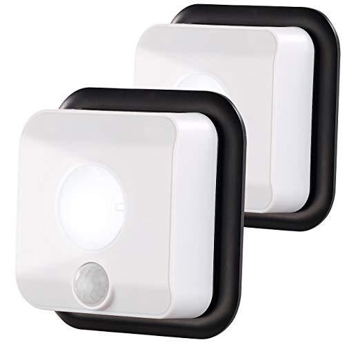 PEARL Lampen Dämmerungssensor: 2er-Set Batterie-LED-Wandleuchten, Licht- & Bewegungsmelder, 110 lm (Bewegungsmelder Dämmerungssensoren)