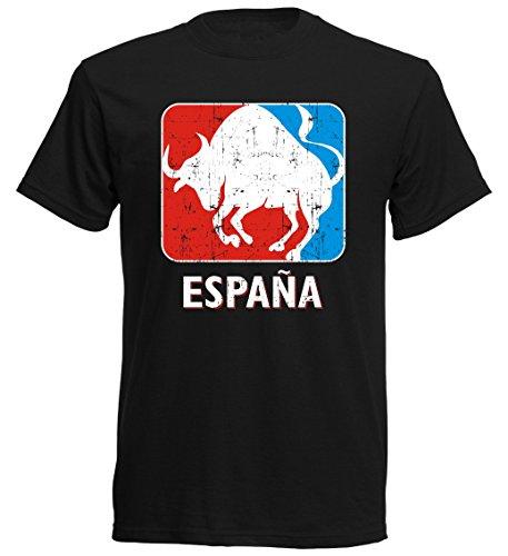 Camiseta de Manga Corta, diseño de España SC ESP 9 - Toro Espana Sport Soccer Negro S