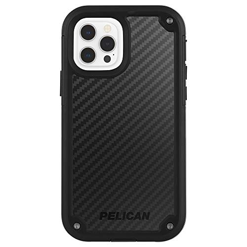 Pelican - Shield Series - Kevlar Case for iPhone 12 Pro Max (5G) - 21 ft Drop Protection - 6.7 Inch - Black