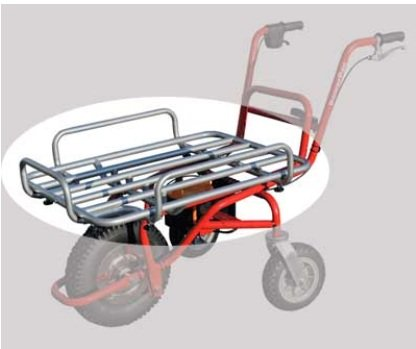 PowerPac Loading Platform Suitable for ED120 Electric Wheelbarrow / Dumper / Battery-Powered Motorised Wheelbarrow