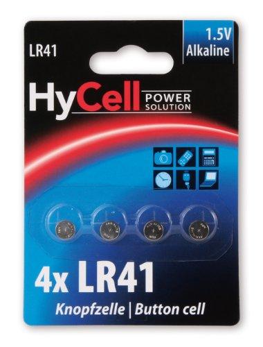 HYCELL 1516-0025 HyCell Alkaline Knofpzelle LR41 1,5V, V3GA, LR41/192 Akku-Set