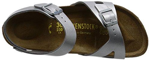 Birkenstock Kids Birkenstock Mädchen Rio Knöchelriemchen, Silber (Silber), 24 EU