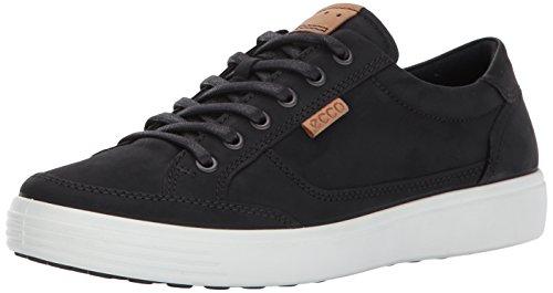 ECCO Men's Soft 7 Fashion Sneaker,black,44 EU / 10-10.5 US