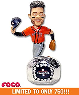Jose Altuve (Houston Astros) 2017 World Series Champs Ring Base Exclusive Bobblehead #750
