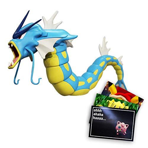 Lively Moments Pokemon Legendäre Actionfigur Garados Sammelfigur Pokemonfigur + 1 GRATIS Grußkarte Weihnachtspikachu