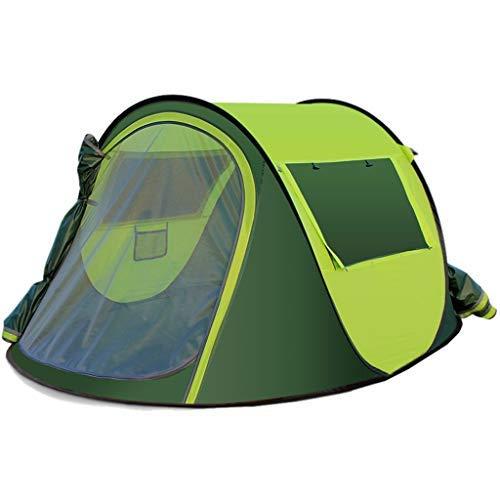 LKK-KK Al Aire Libre Completamente automática rápida Abierto Espesar Impermeable Protector Solar Tienda de campaña portátil fácil de Instalar rápidamente (Color : Green)