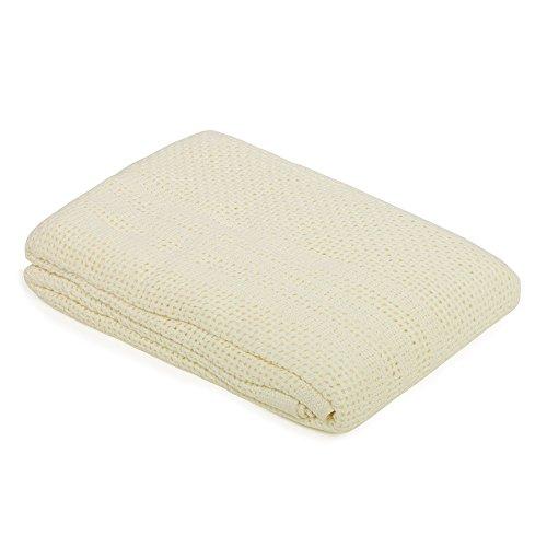 Junior Joy Bébé Coton Cellulaire Blanket Crème