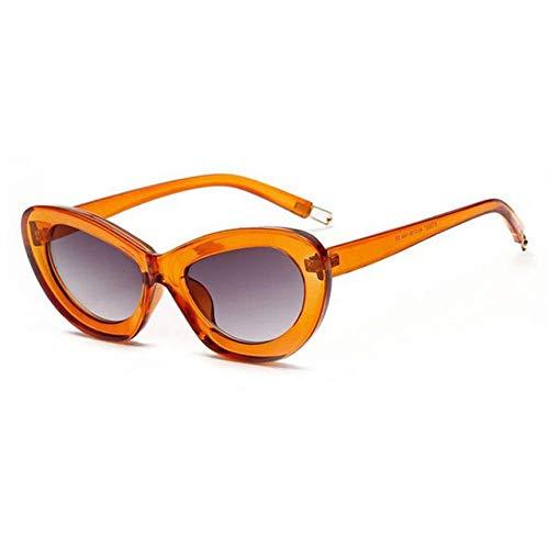 ZZOW Gafas De Sol Ovaladas De Ojo De Gato Retro A La Moda para Mujer, Lentes Transparentes De Color Caramelo, Gafas De Sol para Mujer, Gafas De Sol Uv400