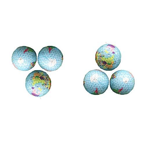 Cosas de golf- Fije la bola de golf de la bola de golf de la impresión del globo de la personalidad Bola de golf transparente del estadio de la nieve transparente para los hombres de las mujeres Set d