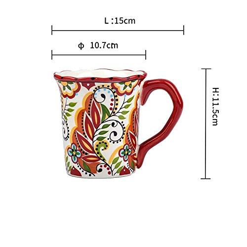IRCATH Formschöne Kaffeetasse - Bosnisch kreative Paar Tasse Becher Keramik Tasse kaffeetasse Haushalt Tee Tasse Kombination tasse-04