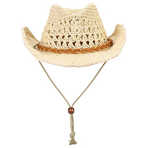 Foldable Cowboy Hat Shapeable Wide Brim Sun Protection Straw Hats Adults...