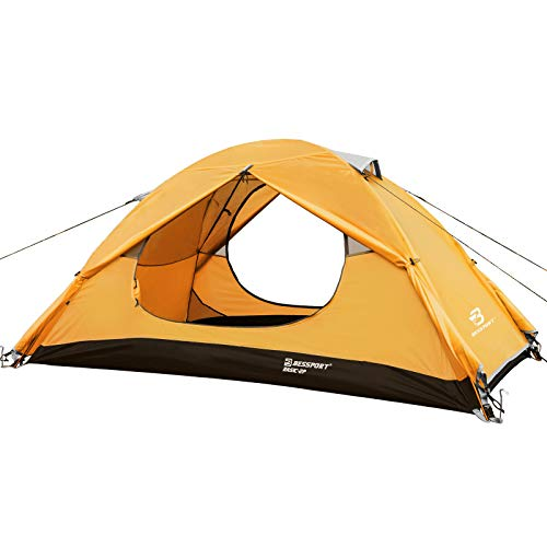 Bessport Camping Tent Lightweight 1 Person Backpacking Tent Waterproof Two Doors Easy Setup Tent for Outdoor Fishing Hiking Travel.