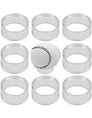 Paquete de 10 anillos de acrílico transparente para soporte de exhibición de pedestal redondo para béisbol, voleibol, softbol, pelota de fútbol, tenis, billar, bolos (no incluye pelota)