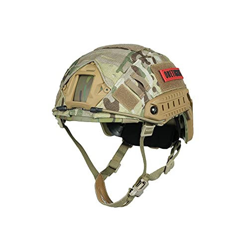 OneTigris Airsoft PJ Type Tactical Paintball Helmet with Cover, Multicam, One Size