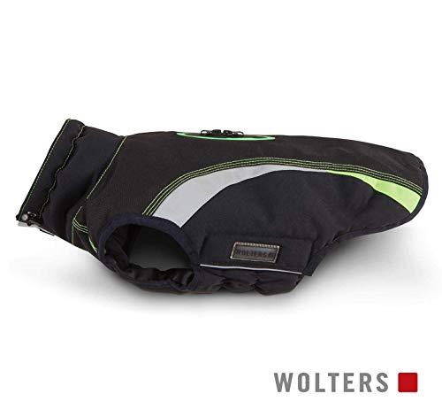 Wolters Outdoorjacke Hundemantel Xtra Strong schwarz/grau mit neon-grün