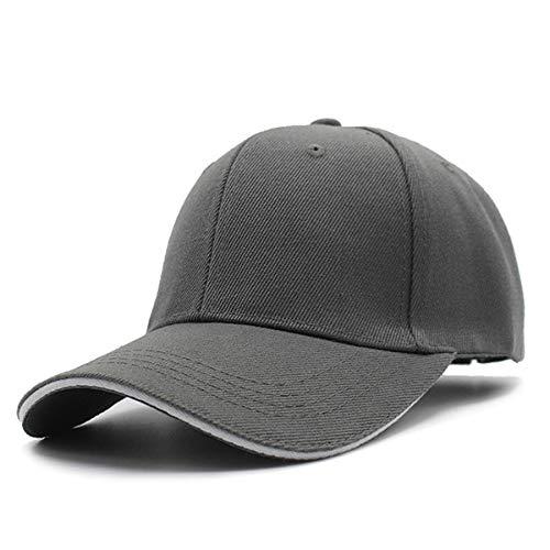 WAZHX Gorras De Béisbol para Mujer para Hombre Gorras Lisas De Color Sólido SombrerosGorra De Papá De Hueso DeModaAjustable55-60Cm Gris Oscuro