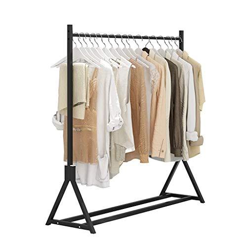 Perchero de metal para el suelo, soporte simple para interiores, multifuncional, de hierro, para dormitorio, muebles para el hogar (color: negro, tamaño: 80 cm)
