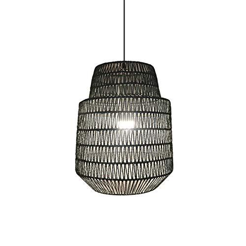 TGRBOP Candelabro De Bambú E27 Lámpara Colgante Restaurante Hotel Ratán Estilo Rústico Luz Colgante Lámparas De Techo Lámpara Colgante Para Sala De Estar Decoración Interior Lámpara Colgante Accesorio