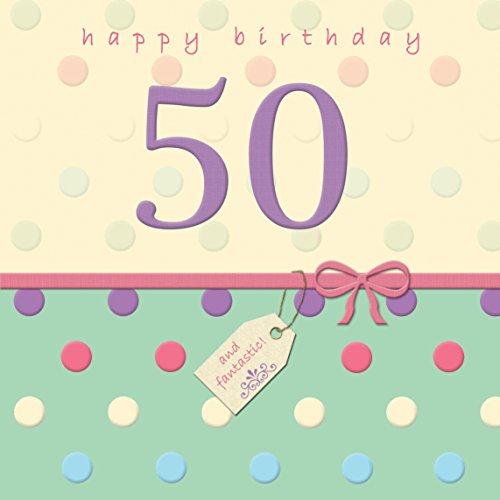 Twizler Tarjeta de 50º cumpleaños con acabado de cristal–50años–50años de edad tarjeta de cumpleaños